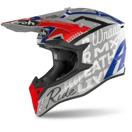 Casco moto cross enduro motard off road Airoh Wraap Street grey gloss WRST16 helmet casque