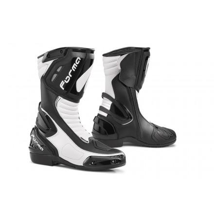 Stivali moto racing sportivi corsa pista Forma Freccia nero bianco black white Boots