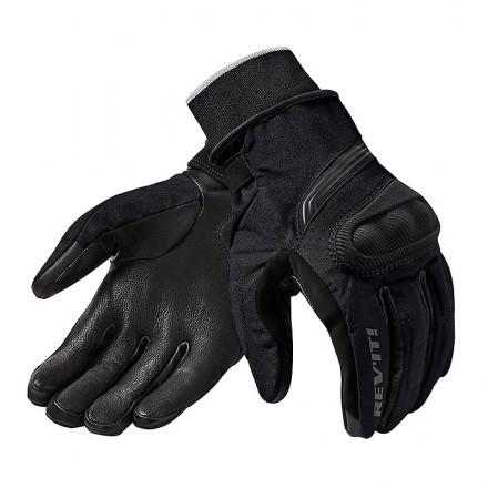 DUCATI MOTARD 14 Rev /'it Guanti PELLE TESSUTO NERO Revit Tex Leather Gloves