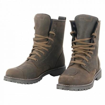 Scarpe Stivaletti moto Oj Anfibio Sound marrone dark brown vintage scrambler cafe racer custom shoes boots