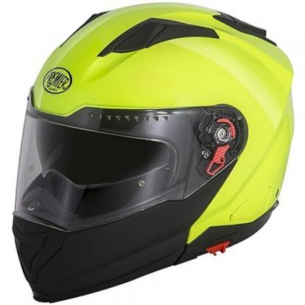 Casco modulare apribile moto Premiter Delta giallo nero fluo yellow black helmet casque