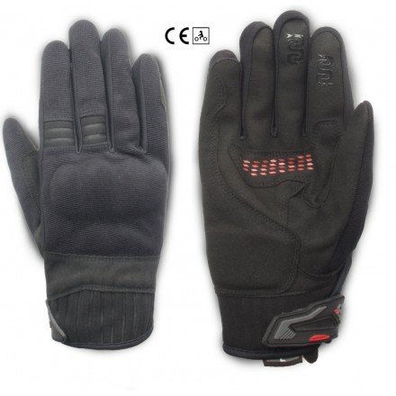 Guanti moto scooter primavera estate Oj Lever nero black spring summer gloves