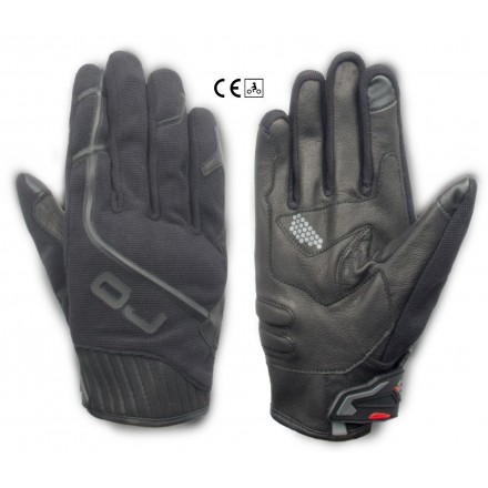 Guanti moto scooter primavera estate Oj Thick nero black spring summer gloves