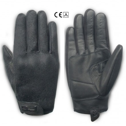 Guanti moto scooter traforati primavera estate Oj Insider nero black spring summer perforated gloves