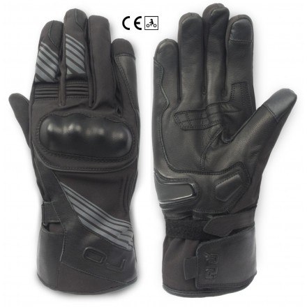 Guanti lunghi tessuto pelle invernali impermeabili moto Oj Band winter waterproof leather texile gloves