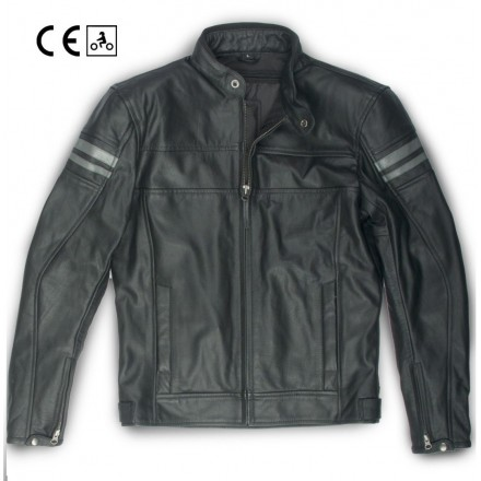 Oj Legend Giacca pelle moto vintage cafe racer scrambler leather jacket