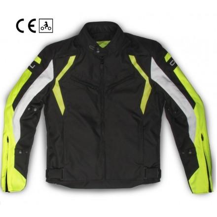 Oj Attitude nero giallo man Giacca uomo moto sport touring black yellow jacket
