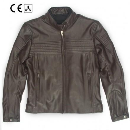Oj Century lady Giacca pelle donna moto naked custom vintage cafe racer scrambler leather jacket