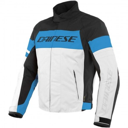 Dainese Saetta D-dry white performance blue black Giacca uomo moto sport touring naked vintage bianco blu nero jacket