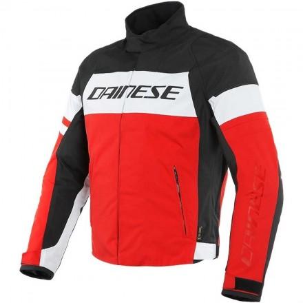 Dainese Saetta D-dry white lava red black Giacca uomo moto sport touring naked vintage bianco nero rosso jacket