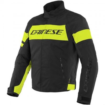 Dainese Saetta D-dry black fluo yellow Giacca uomo moto sport touring naked vintage nero giallo jacket