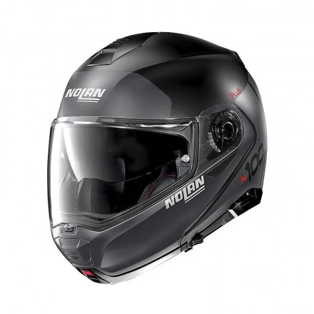 Nolan N100-5 Plus distinctive flat black lava grey 21 Casco modulare apribile nero opaco grigio moto flip up helmet casque