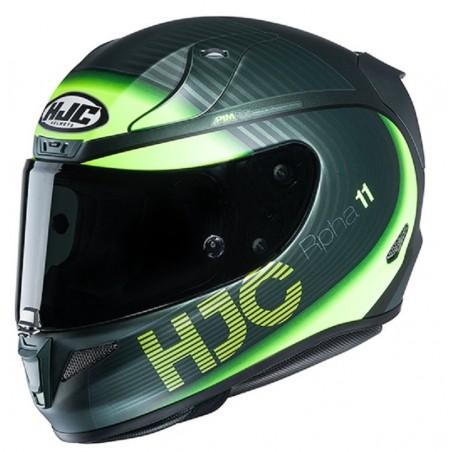 Casco integrale moto fibra racing Hjc Rpha 11 Bine black yellow MC4hSF nero giallo helmet casque
