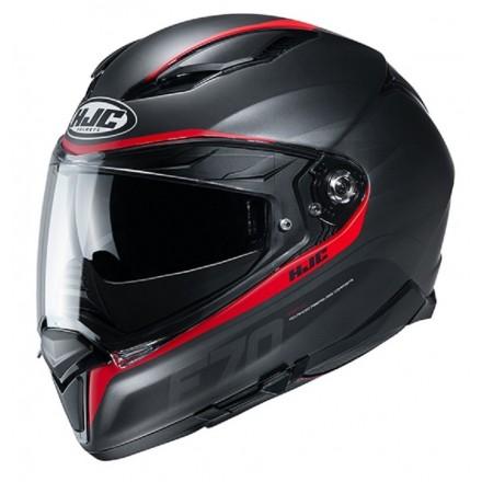 Casco Integrale moto Hjc F70 Feron nero rosso MC1SF black red helmet casque