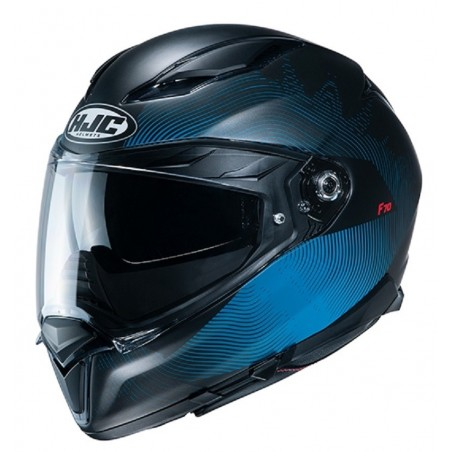 Casco Integrale moto Hjc F70 Samos nero blu MC2SF black blue helmet casque