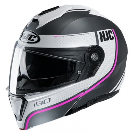Hjc I90 Davan black white nero bianco MC10sf Casco modulare apribile moto flip up helmet casque