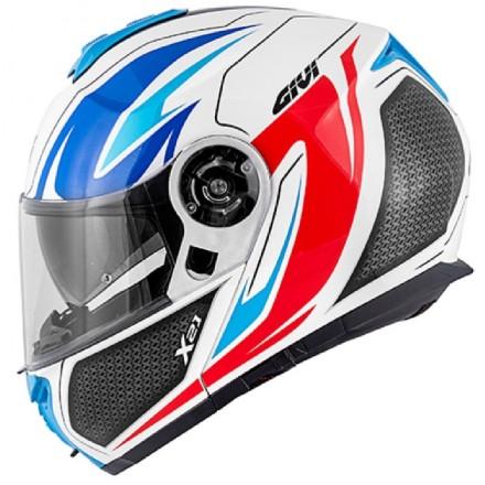 Casco modulare apribile moto Givi X21 hx21 Challenger Shiver bianco rosso blu white red blue flip up helmet casque