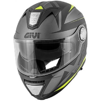 Casco modulare apribile moto Givi X.23 Sydney Pointed nero opaco titanio giallo black mat titanium yellow Flip up Helmet casque
