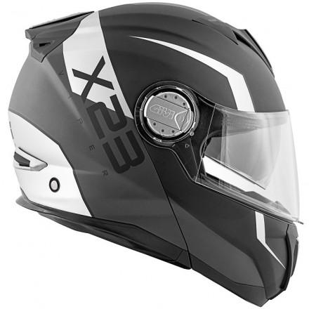 Casco modulare apribile moto Givi X.23 Sydney Viper nero opaco argento black matt silver Flip up Helmet casque