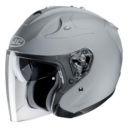 Hjc Fg-jet grigio nardo grey Casco Jet fibra visiera lunga e visierino da sole fiber helmet casque