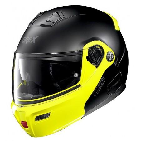 Casco modulare apribile moto Grex G9.1 Evolve Couple 31 nero opaco giallo matt black yellow flip up helmet casque
