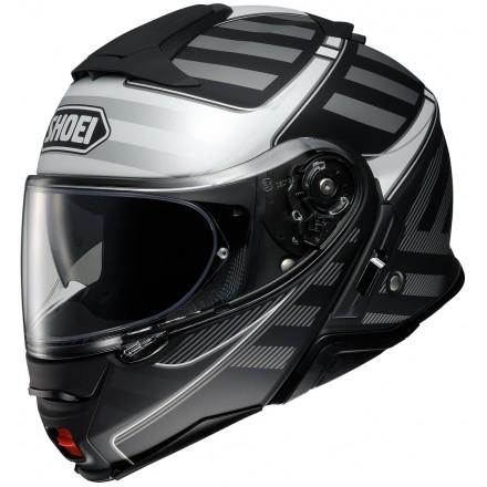 Casco modulare moto Shoei Neotec 2 Splicer Tc-5 nero argento black silver flip up helmet casque