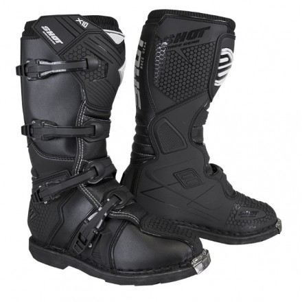 Stivali moto cross Shot X10 2.0 nero black off road enduto motard boots
