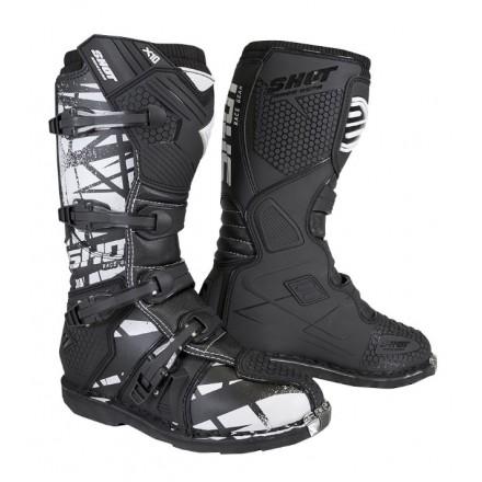 Stivali moto cross Shot X10 2.0 nero black motif off road enduto motard boots