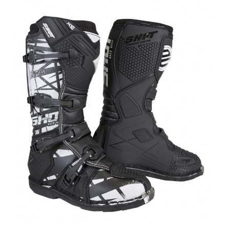 Stivali moto cross Shot X10 2.0 nero black motif off road enduto motard boots