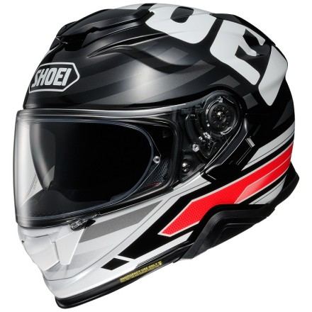 Casco integrale moto Shoei Gt-Air 2 Insignia TC-1 bianco nero rosso white black red helmet casque