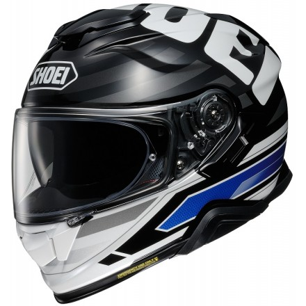 Casco integrale moto Shoei Gt-Air 2 Insignia TC-2 bianco nero blu white black helmet casque