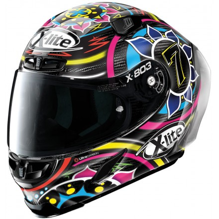 Casco integrale carbonio moto Xlite X803 Rs Ultra carbon replica Davies 23 full face helmet casque