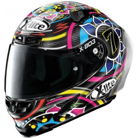 Casco integrale carbonio moto Xlite X803 Rs Ultra carbon replica Davies 23 full face helmet casque