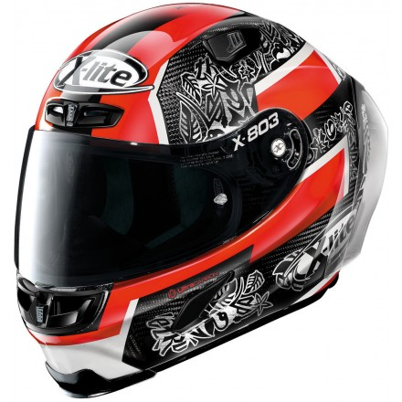 Casco integrale carbonio moto Xlite X803 Rs Ultra carbon replica Petrucci 21 full face helmet casque