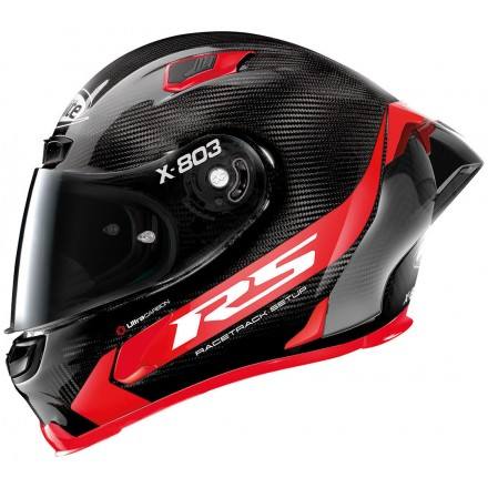 Casco integrale carbonio moto Xlite X803 Rs Ultra carbon Hot Lap rosso red 13 full face helmet casque