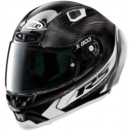 Casco integrale carbonio moto Xlite X803 Rs Ultra carbon Hot Lap black white 14 full face helmet casque