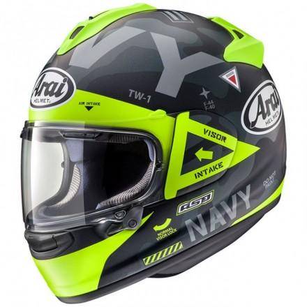 Arai Chaser-X Navy giallo yellow Casco integrale moto full face helmet casque