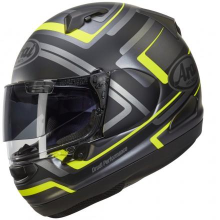 Arai QV-Pro charged black grey yellow Casco integrale moto full face helmet casque