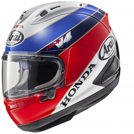 Arai Rx-7 V Honda RC HRC white red blu Casco integrale moto full face helmet casque