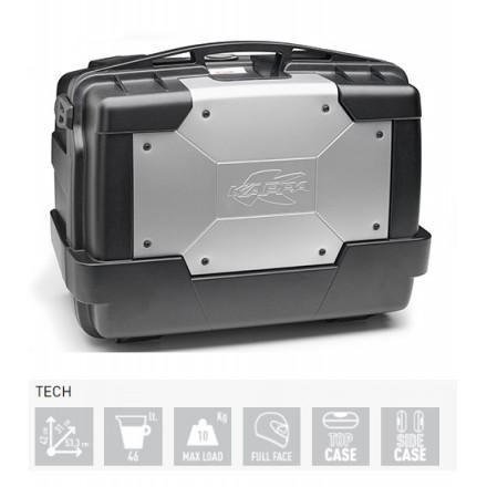Valigia Bauletto moto posteriore o laterale Kappa KGR46 Garda 46 litri nero grigio black silver top case side case
