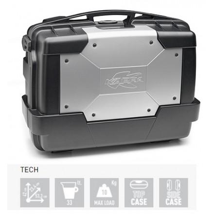 Valigia Bauletto moto posteriore o laterale Kappa KGR33 Garda 33 litri nero grigio black silver top case side case