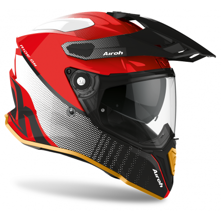 Casco integrale moto on off adventure Airoh Commander Progress Special Rosso Red gloss edition CMP55 helmet casque