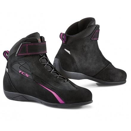 Scarpe donna moto Tcx Lady sport nero rosa black pink woman shoes