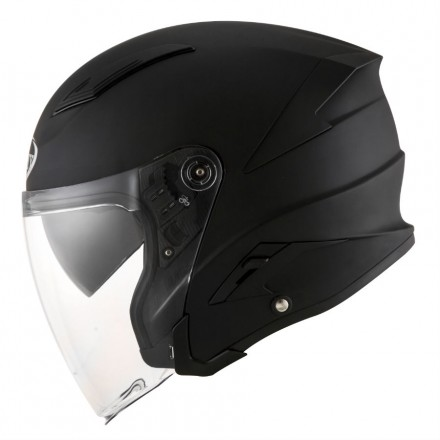 Casco jet fibra moto Suomy Speedjet nero opaco mat black helmet casque