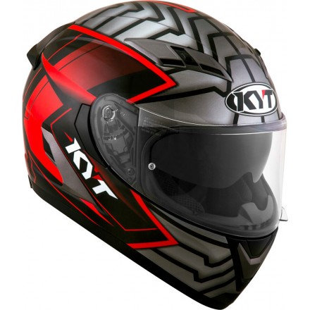 Casco integrale moto KYT Falcon 2 Armor Rosso Red helmet casque