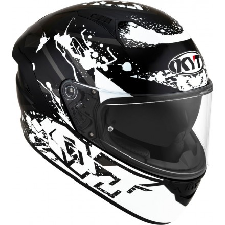 Casco integrale moto KYT NF-R Neutron bianco white helmet casque