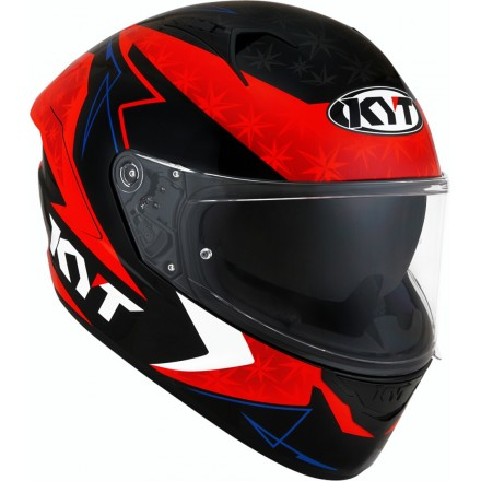 Casco integrale moto KYT NF-R Force rosso red helmet casque