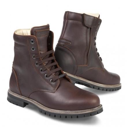 Scarpe Stivaletti moto pelle Stylmartin Ace marrone tan brown waterproof shoes boots