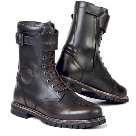 Scarpe Stivali moto pelle Stylmartin Rocket marrone brown waterproof shoes boots
