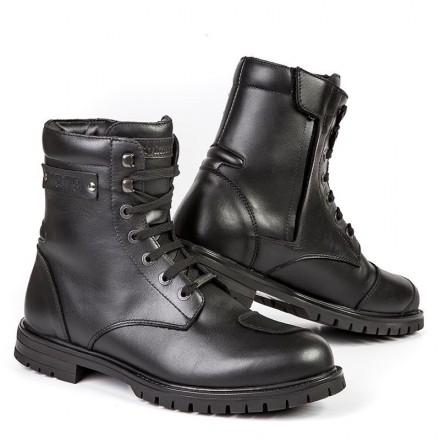 Scarpe Stivali bassi moto pelle Stylmartin Jack nero black waterproof shoes boots